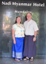 Bonnie & Louis in Mandalay, Myanmar (Burma)