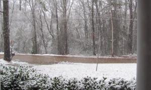 Snow in Winona, MS