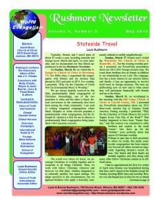 2013MayNewsletter