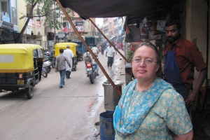 2010 Bonnie on a street in Bangalore, India