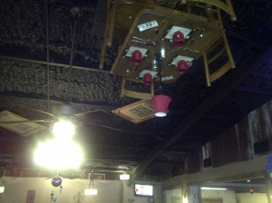 Table Hanging from Ceiling