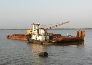 Barge on Demerara River
