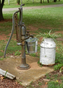 Water Pump & Milk Can