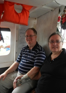 Louis & Bonnie aboard a Guyanese water taxi
