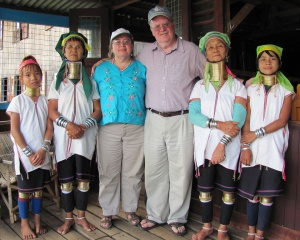 Bonnie & Louis in the mountains of Myanmar (2011)