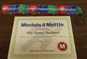 Medals for Mettle encouragment