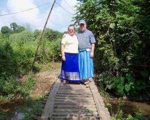 Bonnie & Louis on a Jungle Path (Myanmar, 2012)
