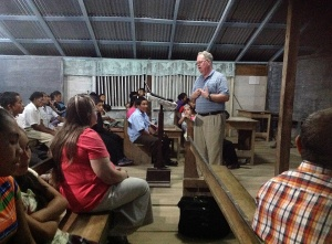 Louis & Bonnie at Gospel meeting in Paramakatoi, Guyana 2014