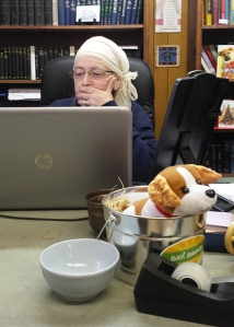 Bonnie at her World Evangelism office