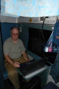 Mobile Office Aboard an Express Train in India (2015)