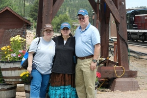 2014 trip to Mt. Rushmore: Rebecca, Bonnie & Louis -- Our final vacation together